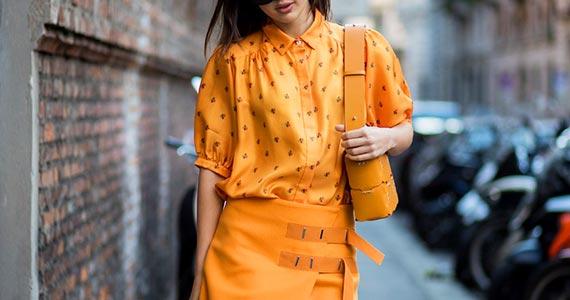 оранжевый цвет в одежде - как сочетать с другими цветами