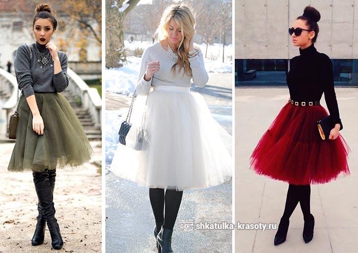 С чем надеть юбку сетку