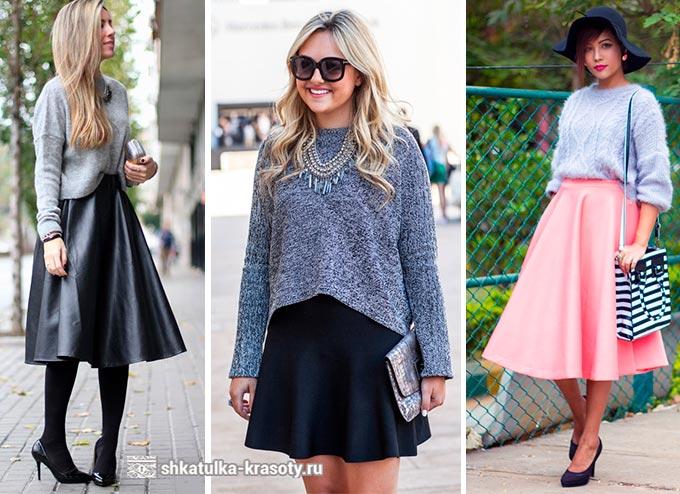 юбка-солнце и свитер