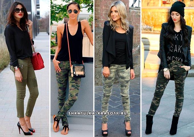 брюки цвета хаки фото