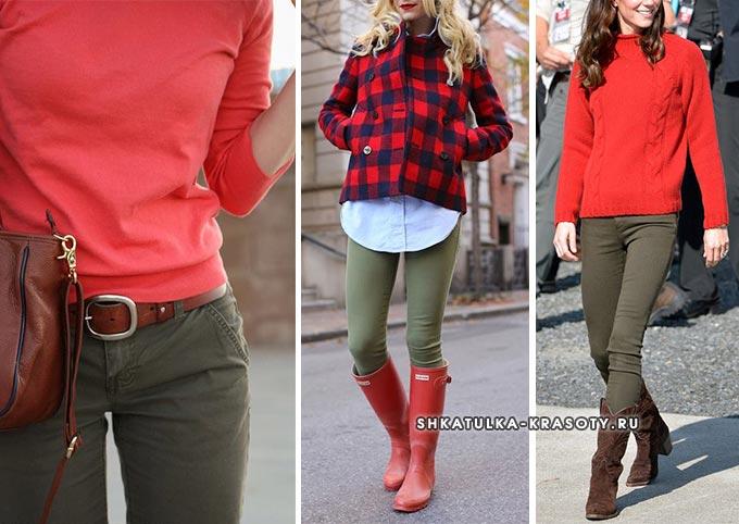 с чем носить джинсы хаки