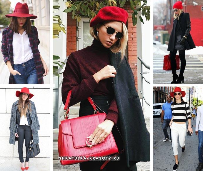 красная шляпа, шапка
