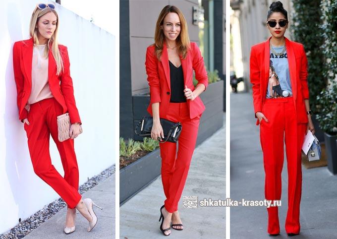 образы с красным костюмом