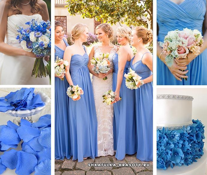 свадьба цвета василька