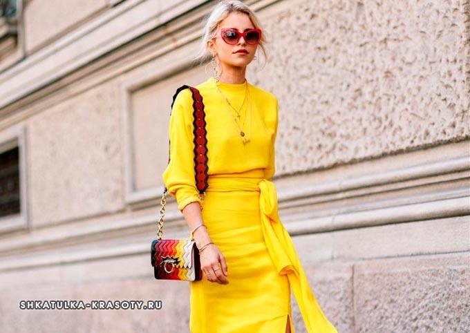психология цветов в одежде желтый