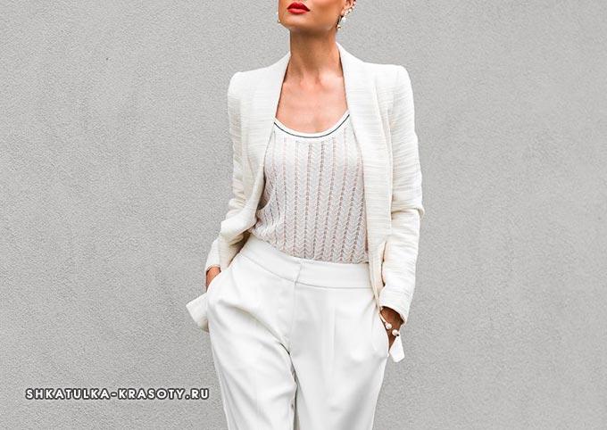 психология цветов в одежде белый
