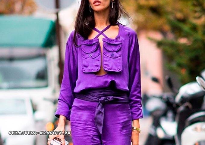 психология цветов в одежде фиолетовый