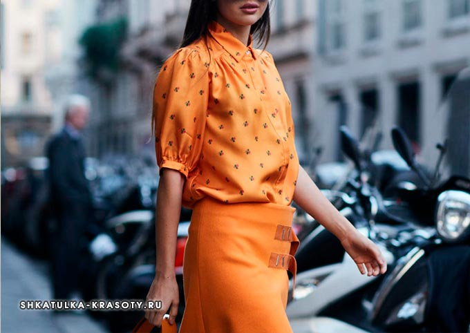 психология цветов в одежде оранжевый