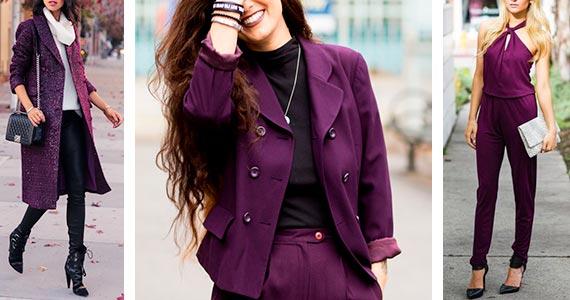 Цвет БАКЛАЖАНА  в одежде - с чем сочетать, фото