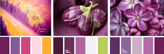 палитра баклажанового цвета