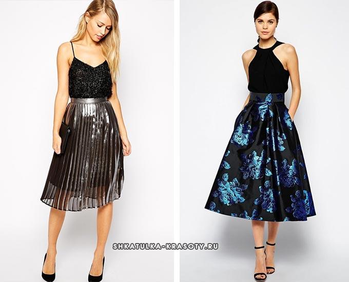 блестящие юбки какие бывают