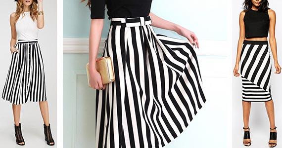 юбка в полоску - как комбинировать с другими вещами