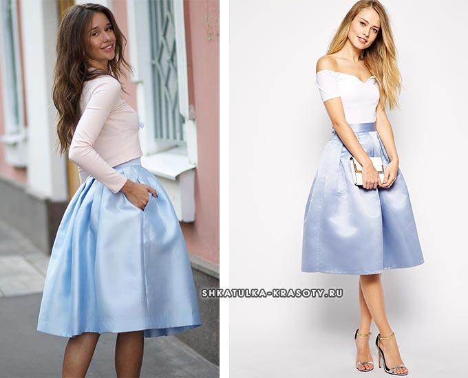 атласная юбка колокол