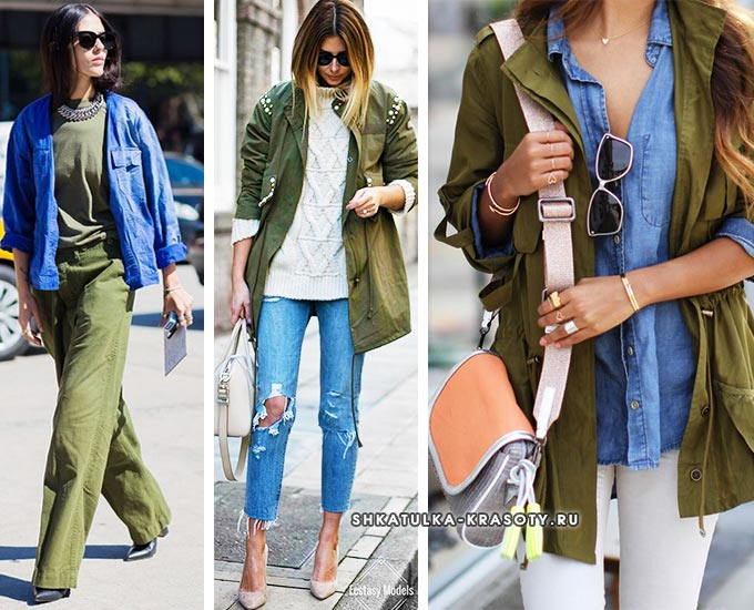 комплекты с синим джинсовым