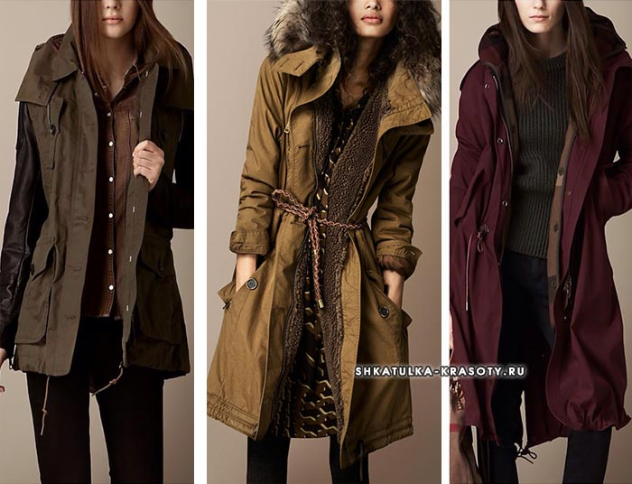 Модели от Burberry