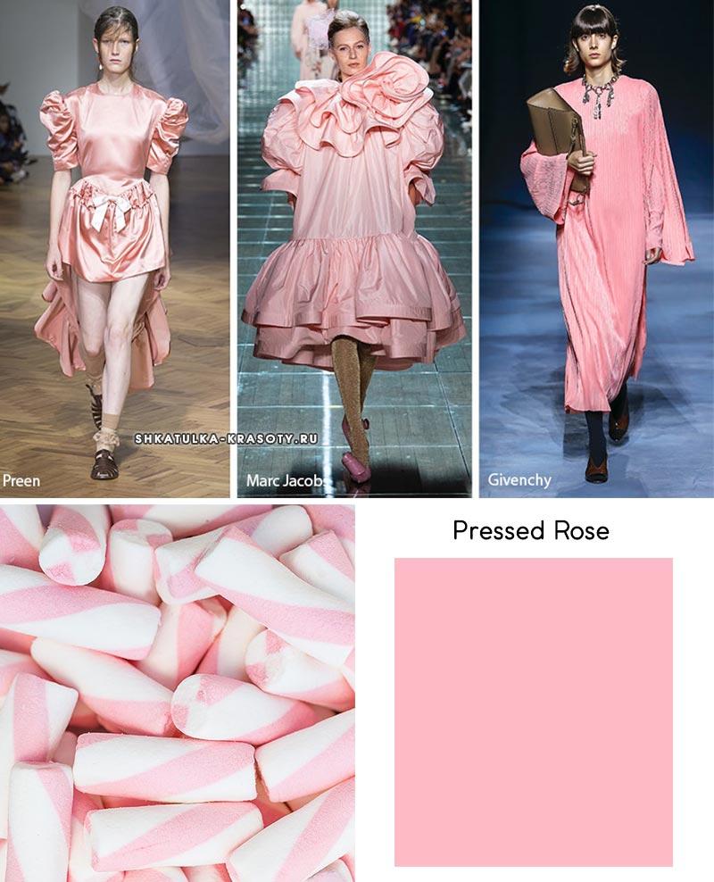 Pressed Rose модный цвет весна лето 2019