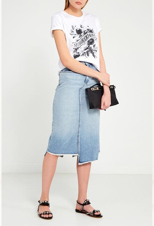 модели джинсовых юбок карандаш