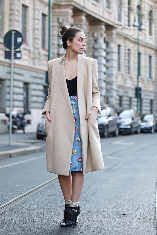 с пальто