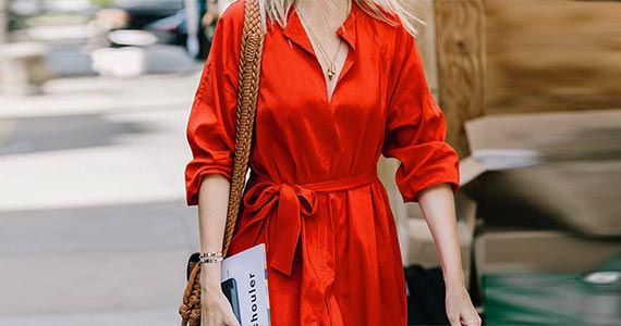 рыжий цвет в одежде