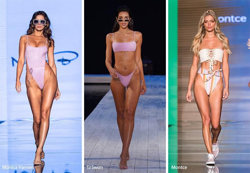 модные купальники 2019 с плавками с высокими вырезами на бедрах