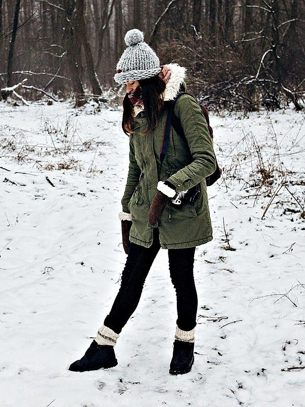 с какой обувью носить парку зимой