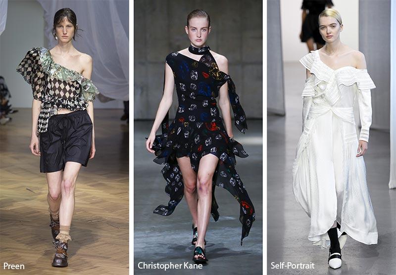 модные тенденции весна-лето 2019 Асимметрия на плечах
