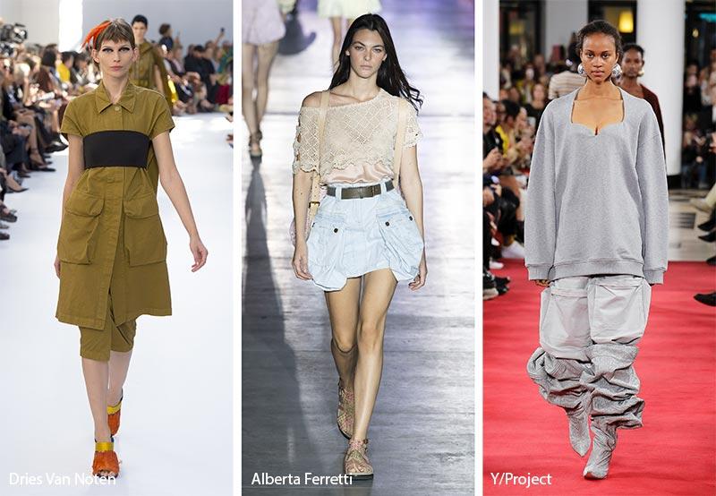 модные тенденции весна-лето 2019 Большие накладные карманы