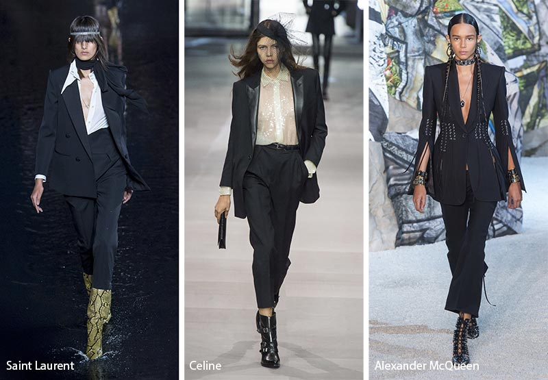 Черные костюмы модные тенденции весна-лето 2019