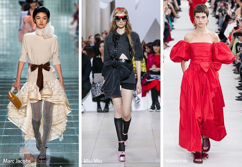 банты на талии модные тенденции весна-лето 2019
