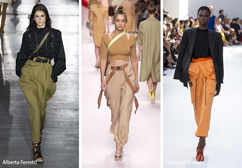 Брюки карго модные тенденции весна-лето 2019
