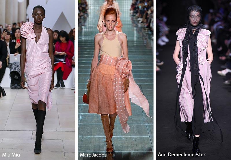 модные тенденции весна-лето 2019 Розы из ткани