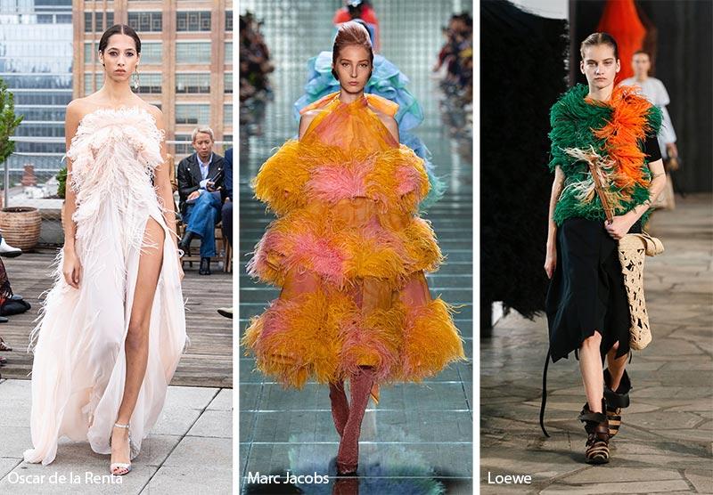 модные тенденции весна-лето 2019 Перья