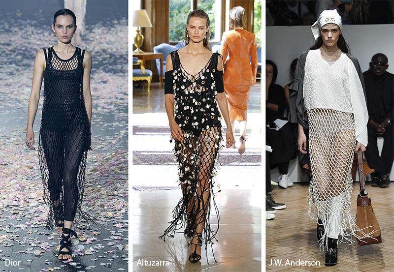 Платье в сетку модные тенденции весна-лето 2019