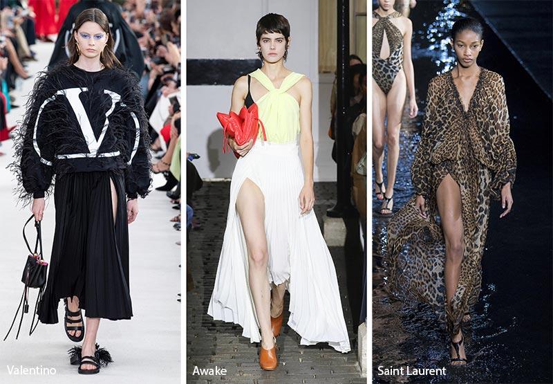 модные тенденции весна-лето 2019 Экстра высокий вырез для ног