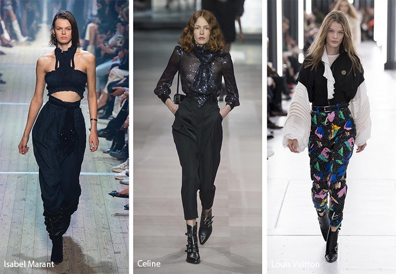 модные тенденции весна-лето 2019 Свободные брюки с завышенной талией