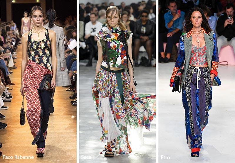 модные тенденции весна-лето 2019 Микс принтов