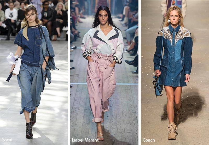 модные тенденции весна-лето 2019 Наряды из джинсовых лоскутов