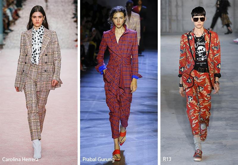 Костюмы с принтами модные тенденции весна-лето 2019