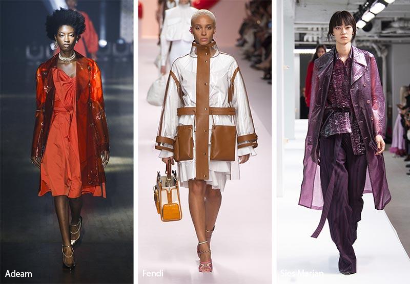 модные тенденции весна-лето 2019 полимерные пальто