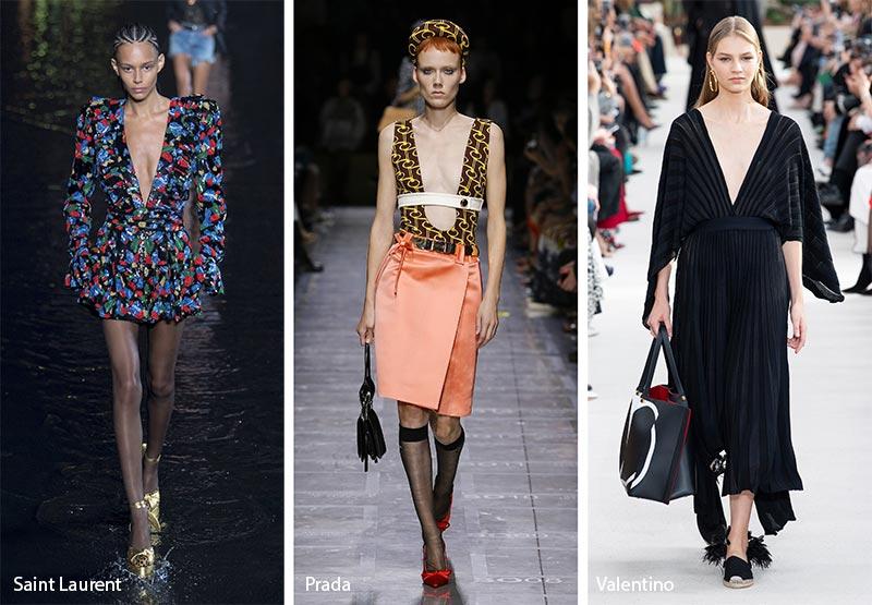 модные тенденции весна-лето 2019 Декольте