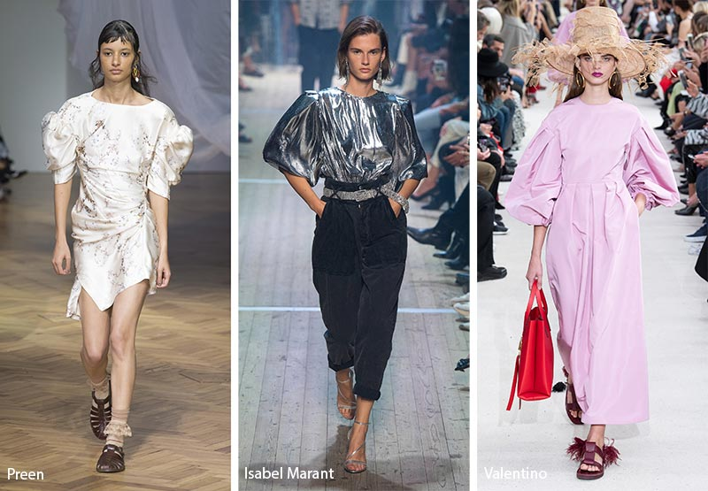 Пышные рукава модные тенденции весна-лето 2019