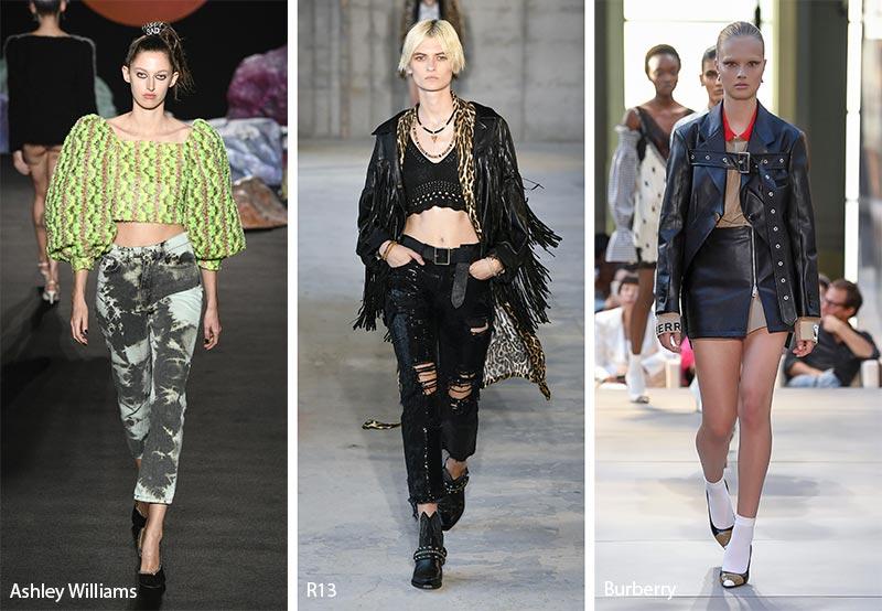 модные тенденции весна-лето 2019 панк
