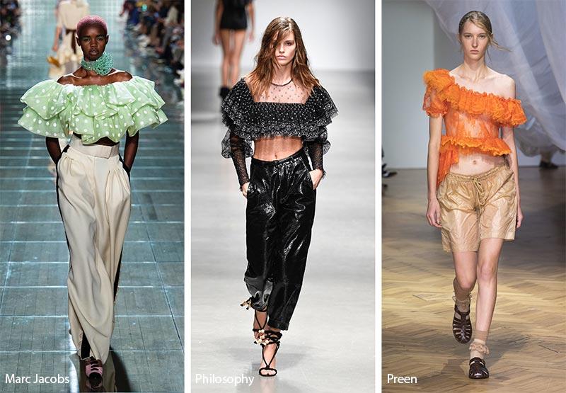 Гофрированные блузы модные тенденции весна-лето 2019