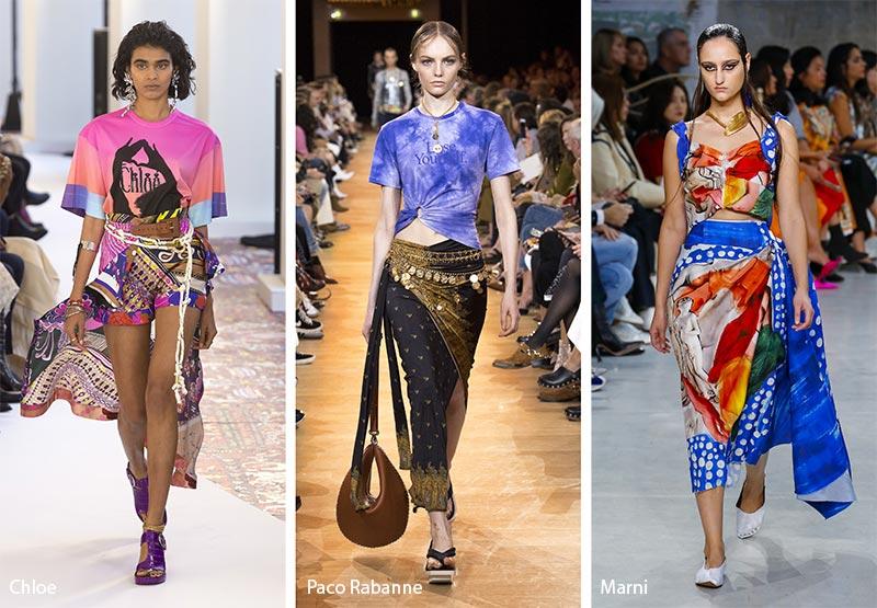 Платки вместо юбок модные тенденции весна-лето 2019