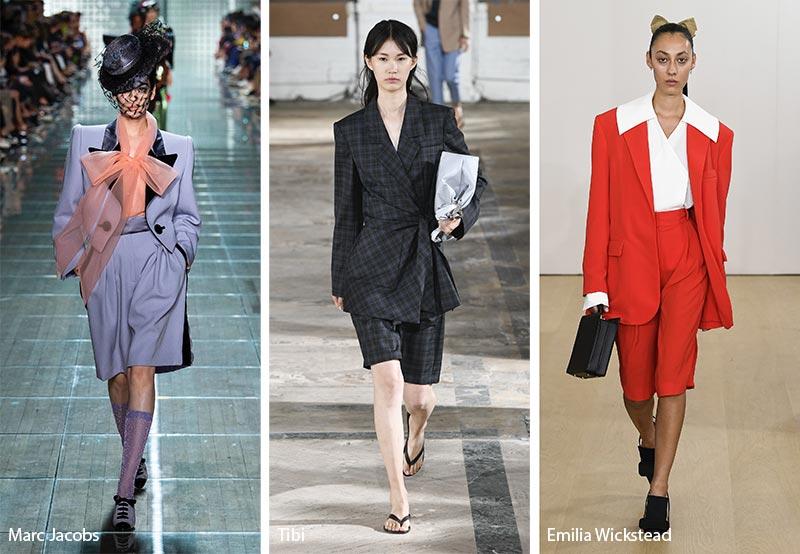 Костюмы с шортами модные тенденции весна-лето 2019