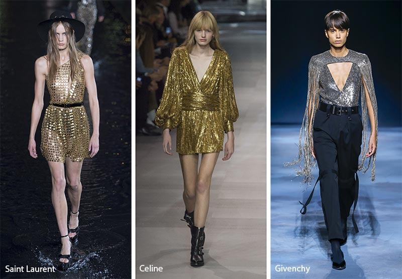 одежда с блестками модные тенденции весна-лето 2019
