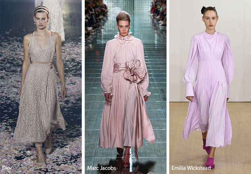 модные тенденции весна-лето 2019 платья чайной длины