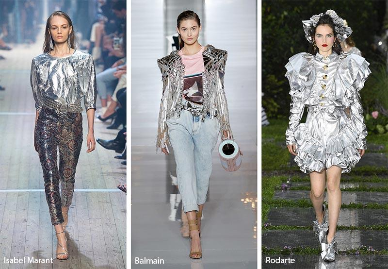 модные тенденции весна-лето 2019 Фольга от кутюр