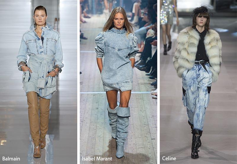 Поношенный деним модные тенденции весна-лето 2019