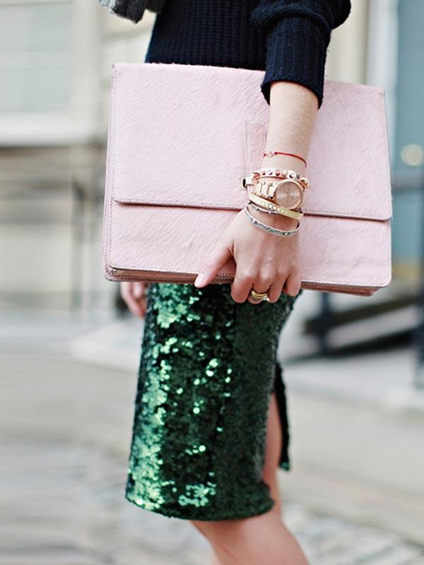 украшения, аксессуары под зеленую юбку